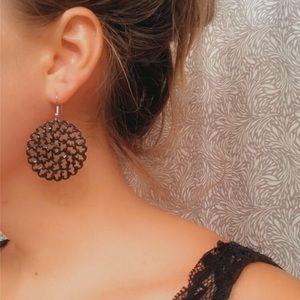 Geo Flower Earrings